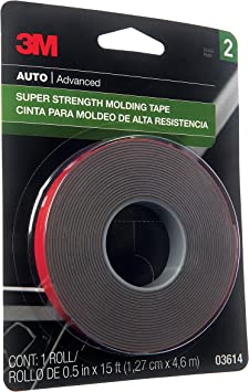 3M Super Strength Molding Tape, 03614, 1/2 in x 15 ft: image