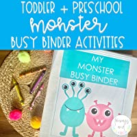 Monster Busy Binder | Toddler + Preschool Learning Activities