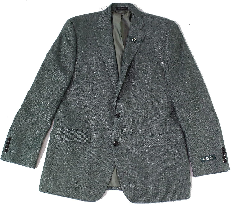 Lauren by Ralph Lauren Mens Suit Seperate Long Blazer Green 42