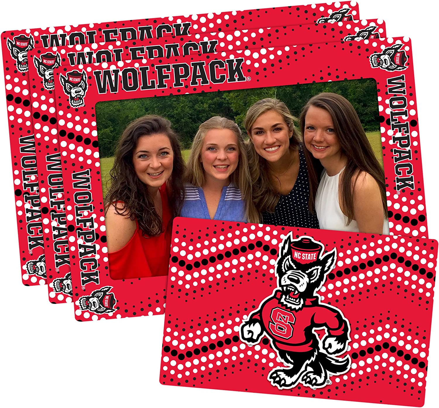 3 Pack Red 4-inch by 6-inch NCAA Magnetic Frame /& Bonus Magnet