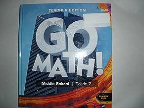 GO Math ! middle school grade 7 teacher edition Common Core Edition