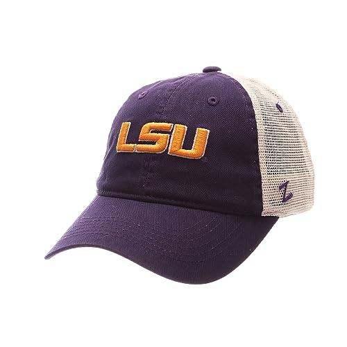 86ceb3d8 Zephyr NCAA LSU Tigers Adult Men University Relaxed Cap, Adjustable, Team  Color/Stone