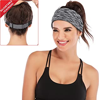 IUGA Adjustable Headbands for Women, Moisture Wicking Fashion Hairband, Yoga Headband, Head Wrap Women, Workout Headband