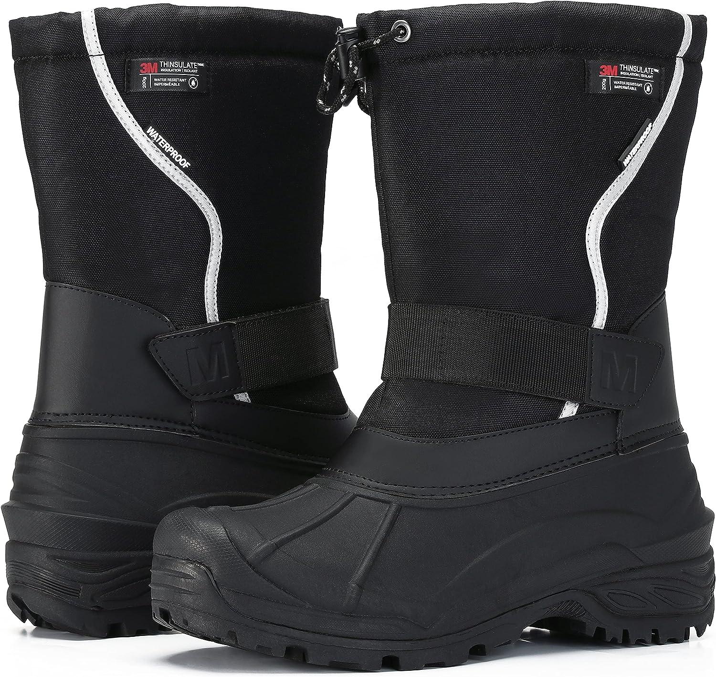 MORENDL Men's Snow 1 year warranty Boots T Cold-Weather Non-slip Las Vegas Mall Waterproof