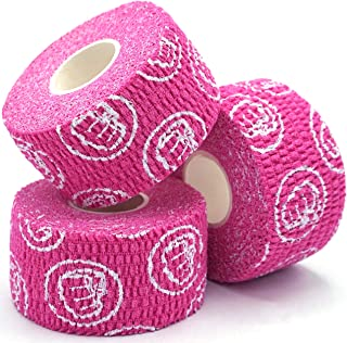 WOD Nation Weightlifting Hook Grip Tape - 3 Pack Thumb Tape - 23 Feet Long Weightlifting Tape - Olympic & Weight Lifting Thumb Wrap - Pink
