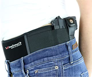 ComfortTac Ultimate Belly Band Holster Deep Concealment Edition - Black | Fits Glock 19 43 26 Smith and Wesson MP Shield Bodyguard Ruger LC9 Sig Sauer More | Carry IWB OWB Appendix