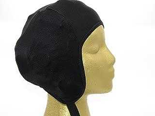 Wrestling Hair Cap - Over The Headgear Style - Black