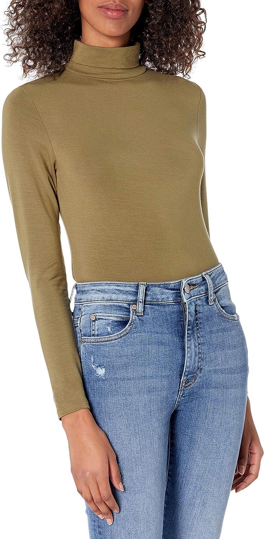 The Drop Women's Phoebe Long Sleeve Turtleneck Second Skin T-shirt