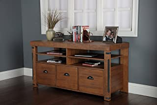 American Furniture Classics Industrial Credenza Console with 3 File Drawers, 60