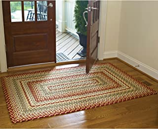 mill village braided rug