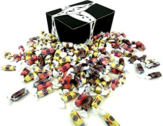 Doscher's French Chew Minis 4-Flavor Variety: One 2 lb Assorted Bag of Vanilla, Chocolate, Strawberry, and Banana in a BlackTie Box