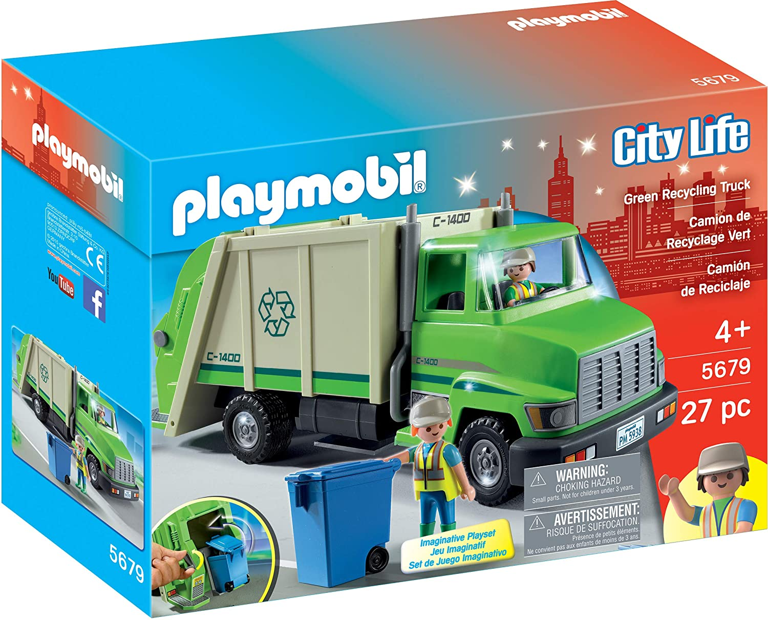 PLAYMOBIL Green Recycling New product 5 ☆ very popular Truck