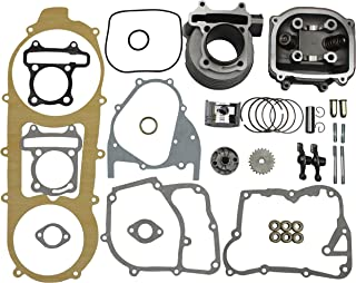 GOOFIT 57.4mm Bore Cylinder Kit 150cc Big Bore GY6 Engine Rebuild Kit Cylinder Head Chinese Scooter