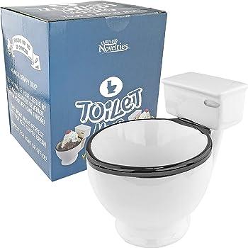 Fairly Odd Novelties toilet coffee mug, 12 ounce, Off-White
