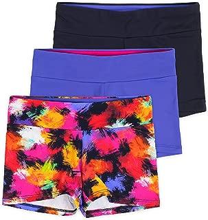 Lucky & Me Layla Girls Dance Shorts, Gymnastics & Dancewear, 3-Pack, Premium Stretch