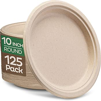 """Pack Of 100 White Disposable Paper Plates perfect for BBQ and parties 7/"""""""
