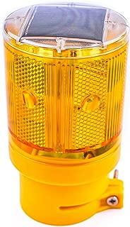 RK Safety WLIGHT-ST Solar Powered Emergency LED Strobe Lamp Lights Wireless Control | Traffic, Garden, Barricade, Road, Construction, Safety Signs Flashing Warning Flicker Beacon Lamp (Yellow)