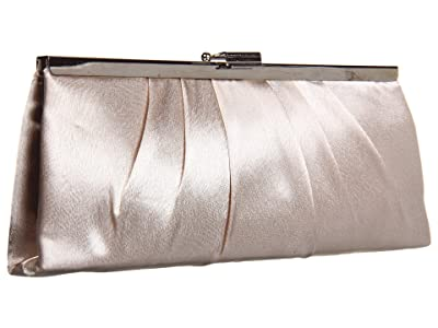 Jessica McClintock Jem East/West Satin Frame (Champagne) Clutch Handbags