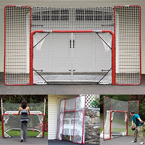 EZGoal Hockey Folding Pro Goal with Backstop and Targets 1cfd6acd9