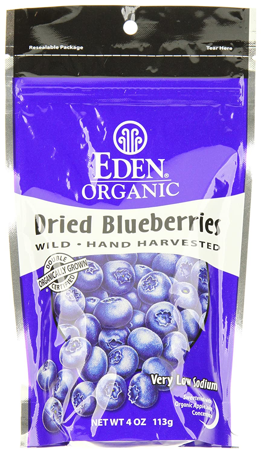 Eden Organic Dried Max 46% OFF Wild Blueberries Pack Ranking TOP18 of 3 Pouches 4-Ounce