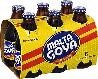 Goya Malta Non-Alcoholic Beverage, 7 Ounce Bottles (Pack of 6)