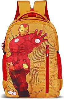 Priority Titan HD Ironman Yellow & Red Casual Backpack Kid's School Bag