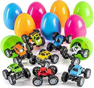 Prextex Jumbo Easter Eggs Filled with DIY Monster Trucks