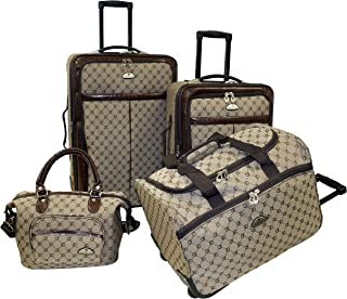 Luggage Signature 4 Piece Set, Brown, One Size