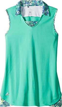 Fashion Print Sleeveless Polo (Big Kids)