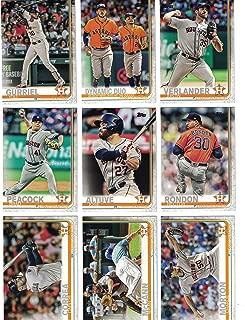 Houston Astros/Complete 2019 Topps Series 1 Baseball Team Set! (12 Cards) Includes 25 bonus Astros Cards!