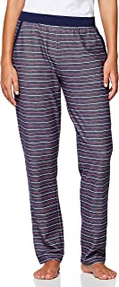 Emporio Armani Bodywear Women's Ladies Knitted Pants, Riga Blu/Rosso/Panna