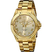 Invicta Champagne Dial Gold-tone Roman Numerals Mens Watch