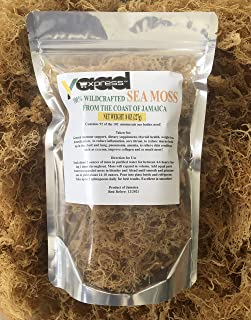 100% Wildcrafted Organic Sea Moss/Irish Moss Harvested from Jamaica, No Preservatives , Boost your immunity