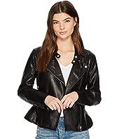 Ruffle Vegan Leather Jacket in Ruffle My Feather