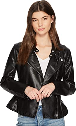 Ruffle Vegan Leather Jacket in Ruffle My Feather