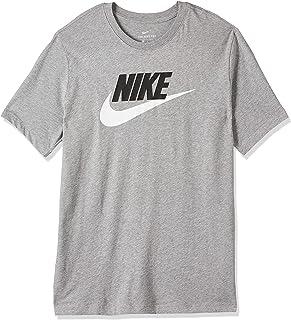 Nike Men's NSW Tee Icon Futura, Black(Dk Grey Heather/Black/White063), Large, AR5004