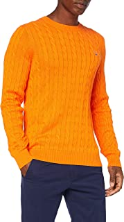 GANT Men's Cotton Cable C-Neck