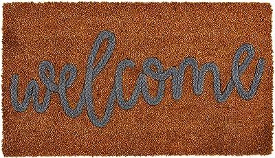 Mud Pie Welcome Coir Applique Door Mat
