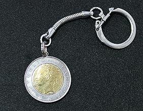 キーホルダー イタリア 貨幣 500リラ(バイメタル) ユーロ前