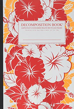 Red Hibiscus Decomposition Book: College-ruled Composition Notebook With 100% Post-consumer-waste Recycled Pages