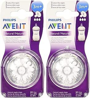 Philips Avent Natural Nipple Medium Flow - 4 Pack