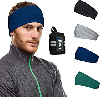 Cotton Workout Hairband Headband Sweatband with Wrist Support Moisture Absorbing Stretchy Sports Unisex Elastic Helmet Lin...