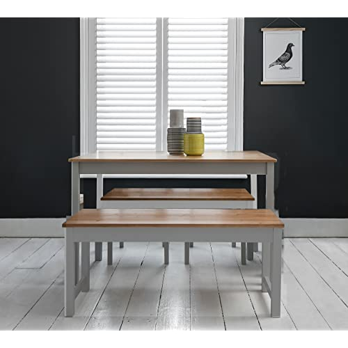 Dining Table Sets With Bench Amazoncouk