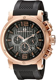 Oceanaut Men's OC2121 Spider Analog Display Quartz Black Watch