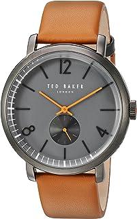 Ted Baker London Men's Quartz Stainless Steel Case Leather Strap Brown Sport,(Model No-10031514)