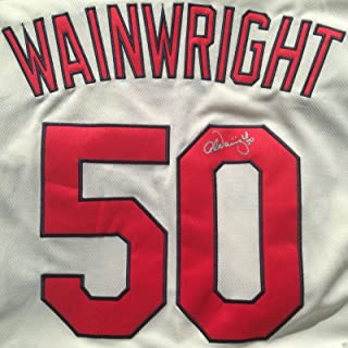 adam wainwright signed jersey