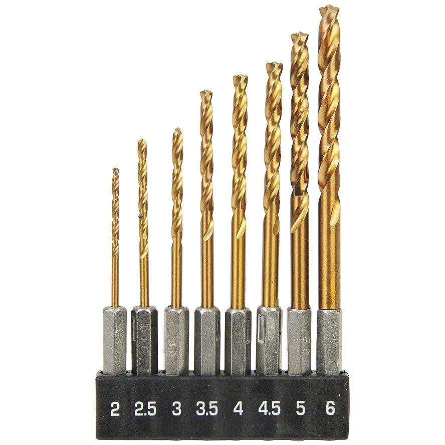 真剣にオンマインドSK11 六角軸 3倍スピードドリルセット 8本組 2.0~6.0mm S3SD-8HEX