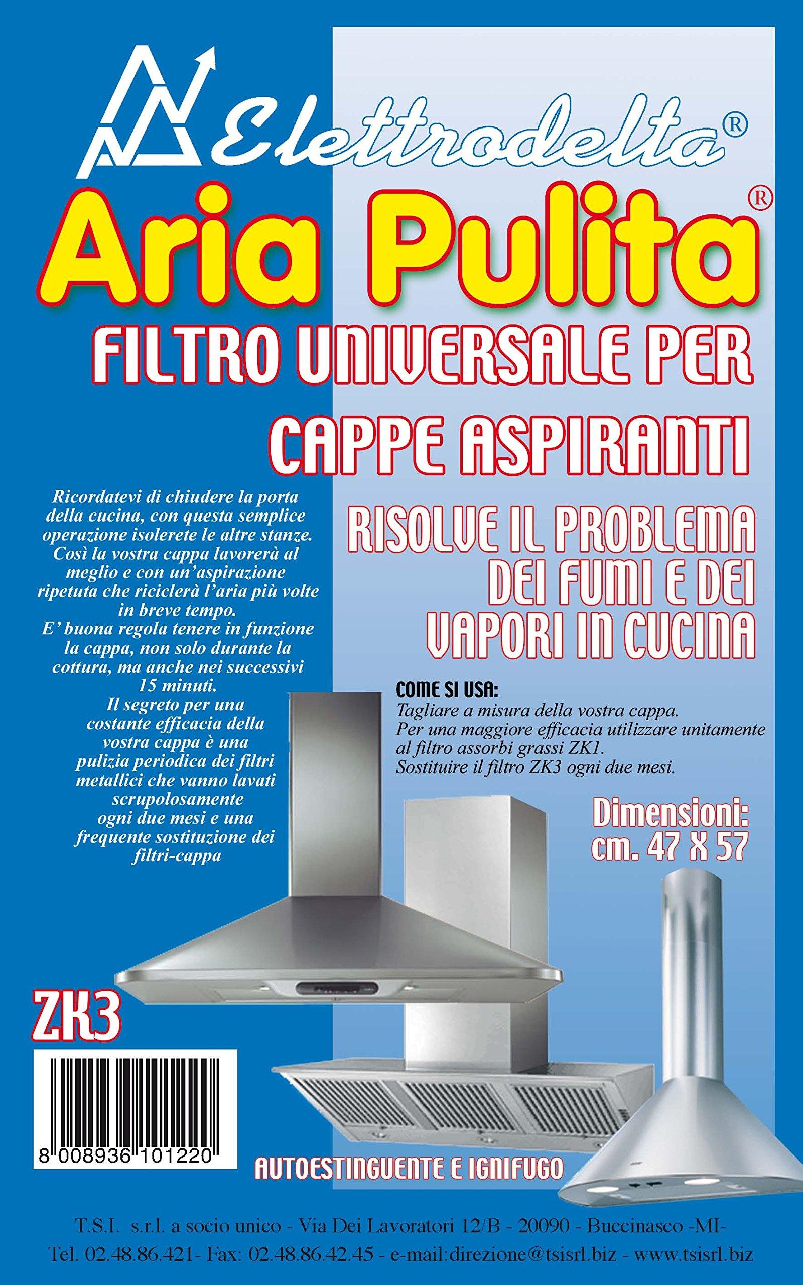 ZK 3P – Aire Limpia – Pack de 2 filtro universal para campanas extractoras – autoextinguible y ignífugo – Tamaño 47 x 57 cm: Amazon.es: Hogar