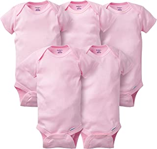 baby-boys 5-pack Solid Onesies Bodysuits
