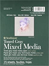 "Strathmore 400 Series Toned Gray Mixed Media Pad, 6""x8"" Glue Bound, 15 Sheets per Pad"